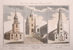 """19th Century English School. """"History of London"""", with St Mary's, St James's and St Luke's,"""