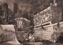 "After William Hamilton (1751-1801) British. ""Section of the Morte de Gramo et Roma"", Engraving, 9."