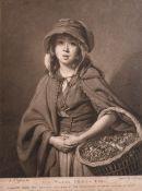 "After Johan Joseph Zoffany (1733-1810) German/British. ""The Water Cress Girl"", Engraving, 13.5"" x"