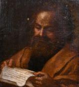 Manner of Giuseppe Jose de Ribera (1588-91-1652) Spanish. Study of a Scribe, Oil on Canvas,