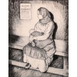 """Frederick Beddington (19th Century) British. """"Rosemary and Camilla"""", Etching, Inscribed in Pencil ("""