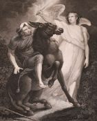 """James Northcote (1746-1831) British. """"The Angel Stopping Balaam"""", Engraving, Unframed, 12.5"""" x 9.75"""""""