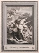 """After Jean-Michel Moreau (1741-1814) French. """"The Rape of Proserpine"""", Engraving, Unframed, 6.75"""""""