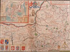 "John Speed (1552-1629) British. ""Somerset Shire"" Circa 1610, Map, 15"" x 19.5"" (38 x 49.5cm)"