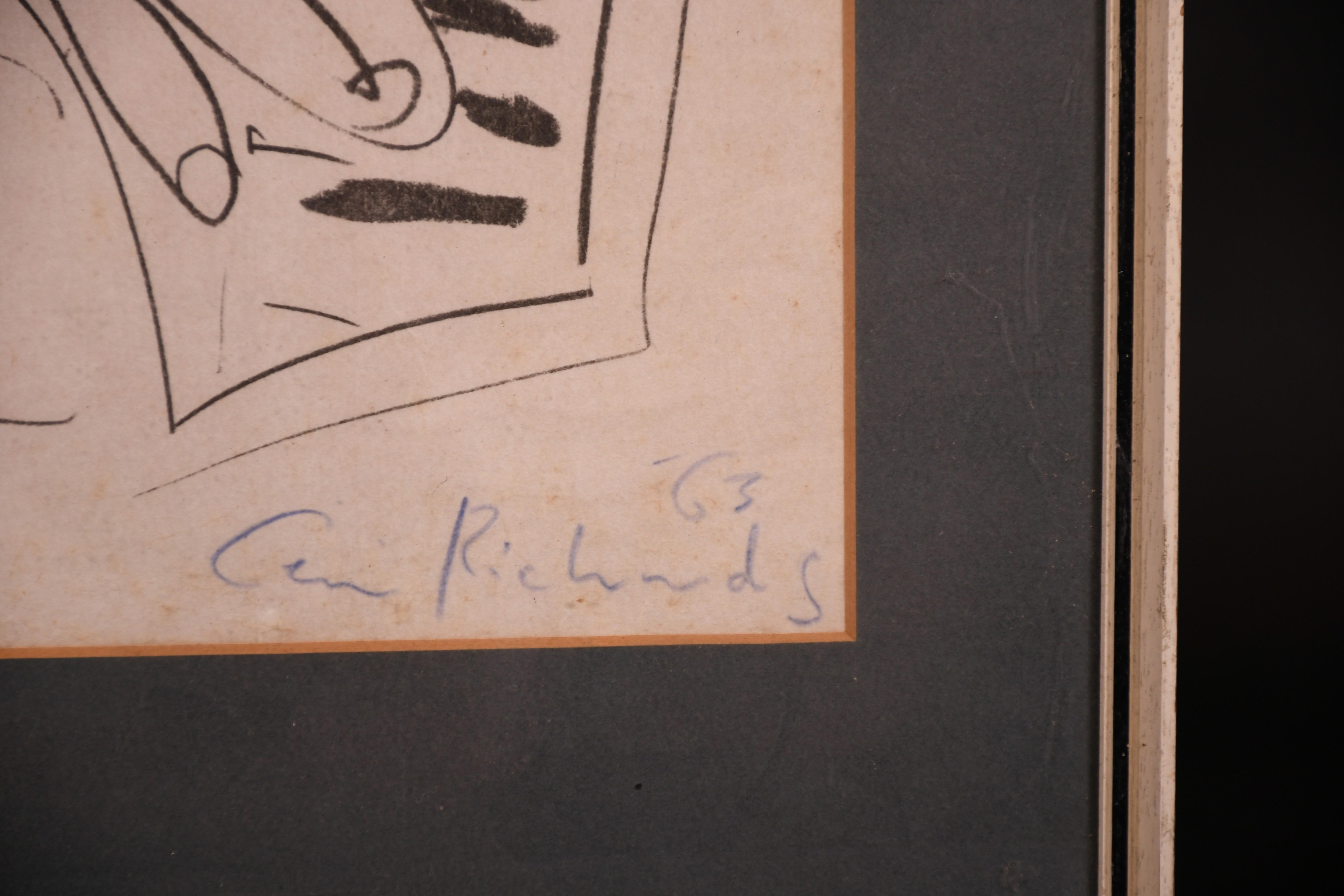 "Ceri Richards (1903-1971) British. ""The Pianist"", Lithograph, 19"" x 12.25"" (48.3 x 31cm) - Image 3 of 4"