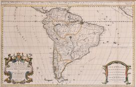 "William Berry (1639-1718) British. ""South America"", Map, 22.25"" x 35"" (56.5 x 88.7cm)"