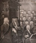 "After William Hogarth (1697-1764) British. ""The Right Honourable Earl Onslow"", Engraving, 17.25"" x"