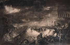 "John Martin (1789-1854) British. ""The Fall of Nineveh"", Engraving, 21"" x 32"" (53.3 x 81.2cm)"