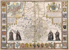 "After John Speed (1552-1629) British. ""Cambridgshire"", Map, 15"" x 20.5"" (38 x 52cm)"