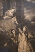 "After Joshua Reynolds (1723-1792) British. ""Charles James Fox with Lady Sarah Bunbury and Lady Susan"