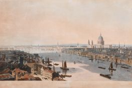 "After William Daniell (1769-1837) British. ""London"", Aquatint, 15.5"" x 25.75"" (39.4 x 66.5cm)"