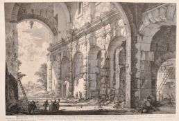 "After Giovanni Battista Piranesi (1720-1778) Italian. ""Veduta del Piano Superiore del Serreglio"","