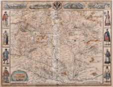 "John Speed (1552-1629) British. ""The Mape of Hungari"", Map, 15.25"" x 20"" (38.7 x 50.8cm)"