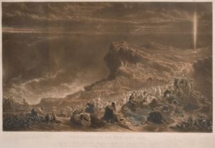 "After Francis Danby (1793-1861) British. ""The Passage of the Red Sea"", Mezzotint, Engraved by George"