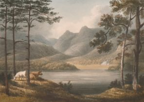 "William Green of Ambleside (1761-1823) British. ""Windermere from the Low Wood"", Watercolour, Signed,"