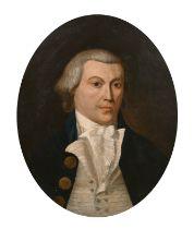 Circle of Captain John Jones Spoilum (1770-1805) British. A Ship's Captain, Oil on Canvas laid down,