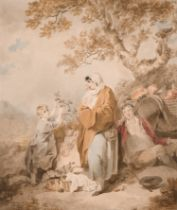 """Francis Wheatley (1747-1801) British. """"Itinerant Potters"""", Watercolour, Signed and Dated 1799, 14."""