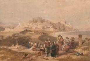 """After David Roberts (1796-1864) British. """"Jaffa, Looking South"""", Watercolour, 12"""" x 18"""" (30.5 x 45."""