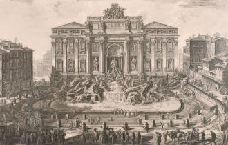 """After Giovanni Battista Piranesi (1720-1778) Italian. """"Veduta in prospettiva della gran Fontana"""
