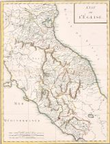 """Pierre Francois Tardieu (1711-1771) French. """"Etat de L'Eglise"""", Map, 16.25"""" x 12"""" (41.3 x 30.5cm)"""