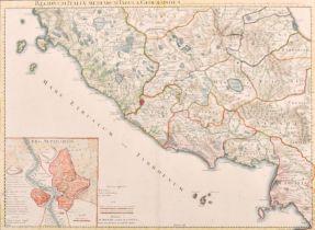 "Philippe Buache (1700-1773) French. ""Regionum Italiae mediarum Tabula Geographica"", Map, 17"" x 23.5"""