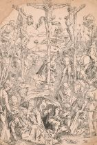 """After Albrecht Durer (1571-1528) German. """"Calvary with the Three Crosses"""", Print, Unframed 8.5"""" x"""