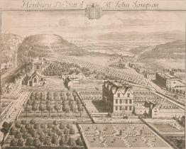 "After Johannes Kip (c.1653-1722) Dutch. ""Henbury, The Seat of Mr John Sampson"", Engraving, 12.5"" x"