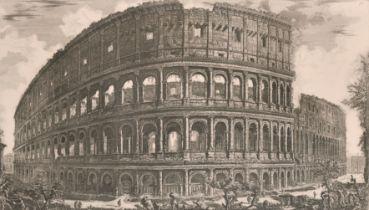 """After Giovanni Battista Piranesi (1720-1778) Italian. """"Veduta dell'Anfiteatro Flavio, detto il"""