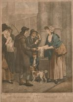 """After Francis Wheatley (1747-1801) British. """"Cries of London"""" 'A New Love Song only Ha'penny a"""