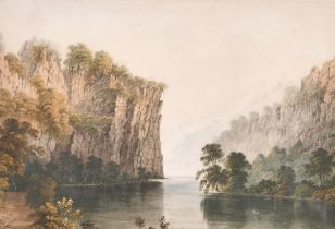 Attributed to John Glover (1767-1849) British. An Antipodean River Landscape, Watercolour,