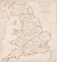 "After John Horsley (1685-1732) British. ""Britanniae Antiquae Tabula Geographica"", Map, Unframed 20."