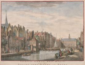 """After Vervaardiger Folkema (1743-1790) Dutch after Jan de Beijer (1703-1780) Dutch. """"Gezicht Langs"""
