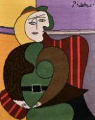"""After Pablo Picasso (1881-1973) Spanish. """"Femme Assise dans un Fauteuil Rouge"""", Carpet, by Desso a"""