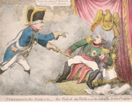 """Attributed to James Gillray (1757-1815) British. """"Frederick the Great- The Gohst [sic] of a"""