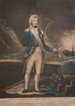 """Robert Laurie (c.1755-1836) British. """"The Right Honourable Rear Admiral, Lord Nelson K.B."""","""