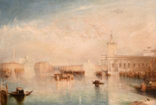 """After Joseph Mallord William Turner (1775-1851) British. """"The Dogana, San Giorgio, Citella from"""
