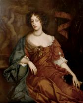 Circle of Peter Lely (1618-1680) Dutch/British. A Three-Quarter Length Portrait of Mary of Modena,
