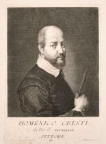 "Pietro Antonio Pazzi (1706-c.1766) Italian. ""Domenico Cresti"", Engraving, 8"" x 6.75"" (20.2 x 17.1cm)"
