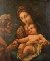 "Circle of Sebastiano Conca (1680-1764) Italian. The Holy Family, Oil on Canvas, 30.5"" x 24.5"" (77."