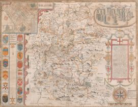 "John Speed (1552-1629) British. ""Wilshire"", Map, 15"" x 20"" (38 x 50.6cm)"