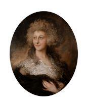 Circle of Gainsborough Dupont (1754-1797) British. Portrait of Anne Elizabeth Cholmley, later Lady