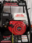 Wurzberg 6.5 hp petrol car power washer with accessories.
