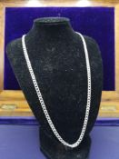 Silver heavy curb chain 20 Inches.