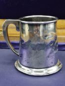 Silver Hall marked birmingham tankard makers c&n. 102 grams.