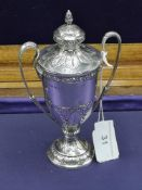 Silver Hall marked birmingham shooting trophy maker. Alexander Clark & Co Ltd 127 grams.