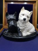 Brentleigh ware whisky Black and white advertising westie dog display.