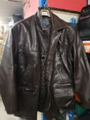 3 leather jackets includes River Island jacket. 4 pictures to cover lot.