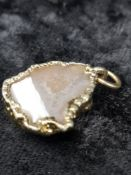 geode gold pendent.
