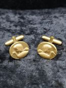 Pair of retro gold plated cufflinks.