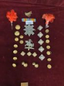 Large Selection Military Badges, Buttons and Rare Cuff Links ect